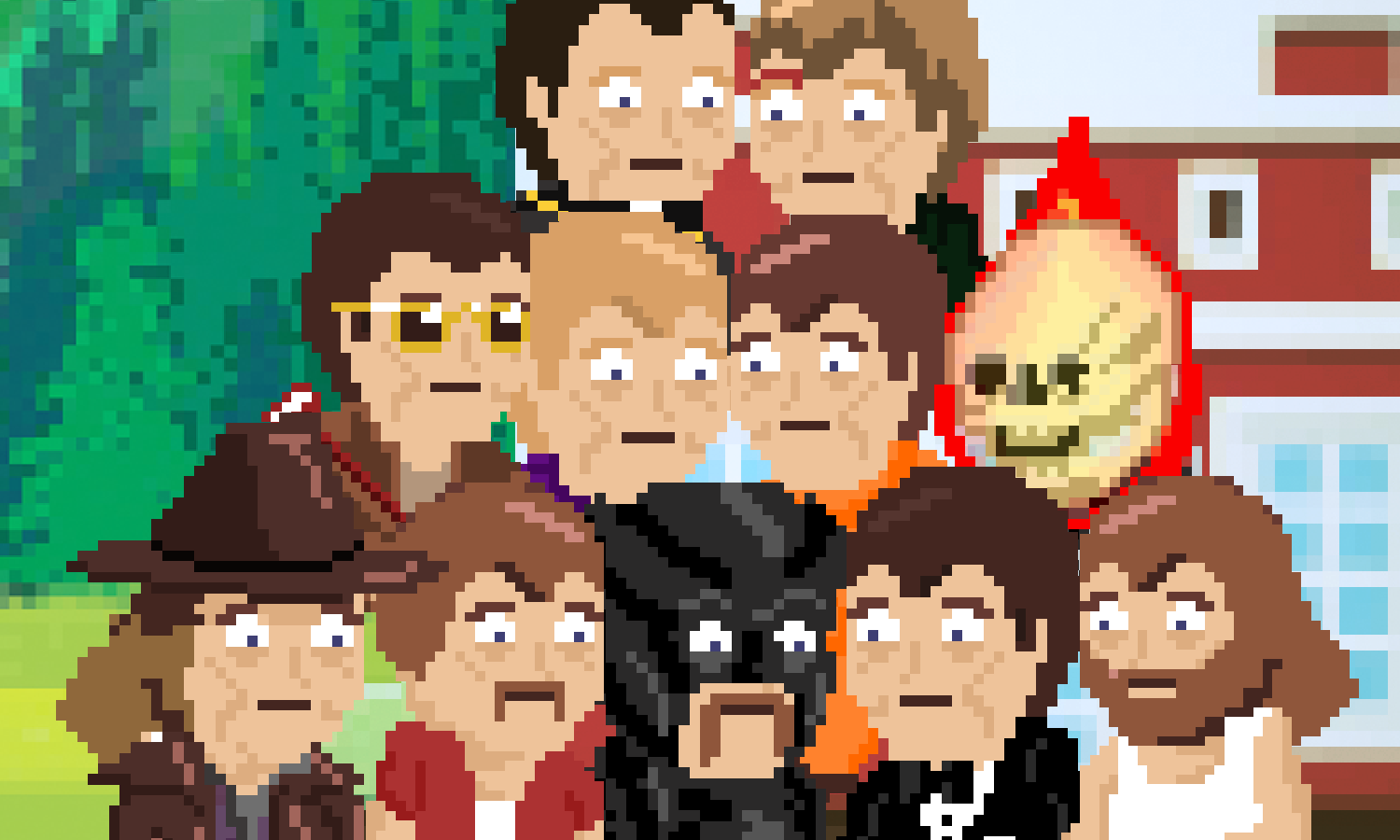 Team photo of avatars of each person who helped out with project