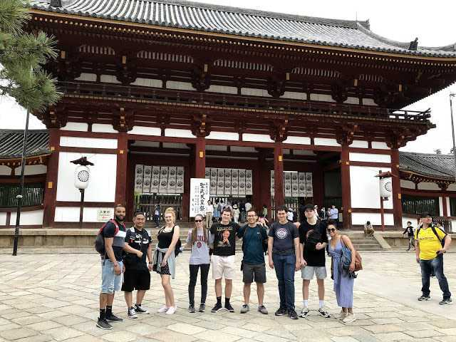 Group visiting a temple